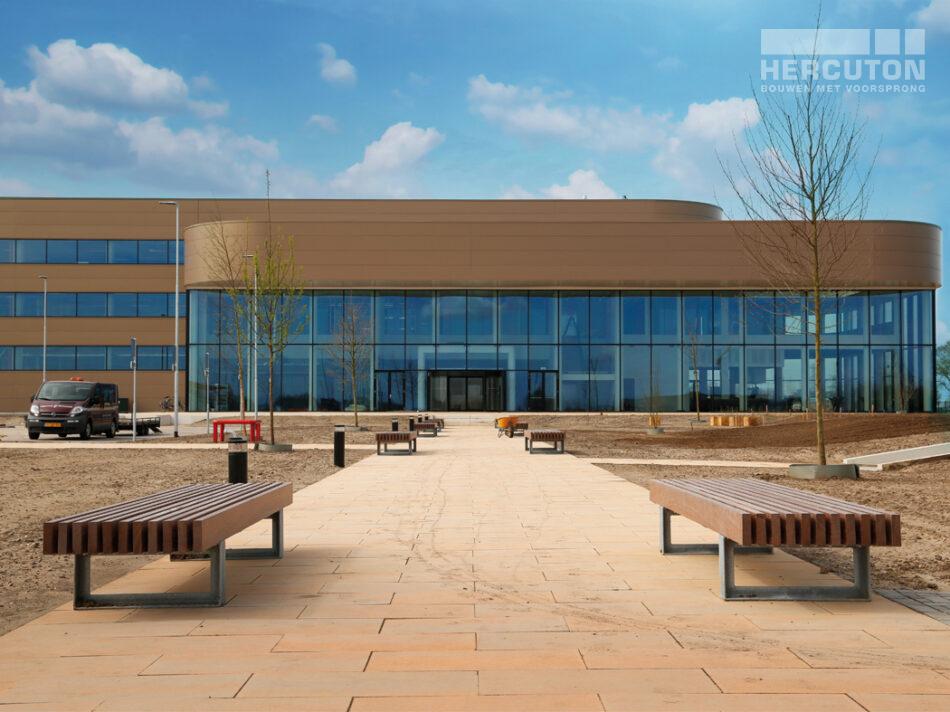 Nieuwbouw distributiecentrum Wehkamp Zwolle - entree