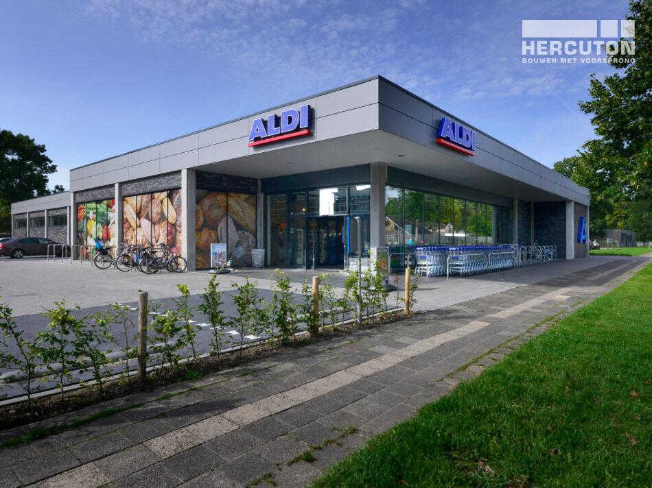 Nieuwbouw filiaal Aldi Drachten door Hercuton