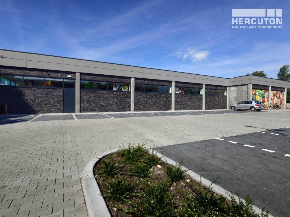 Nieuwbouw filiaal Aldi Drachten gerealiseerd door Hercuton