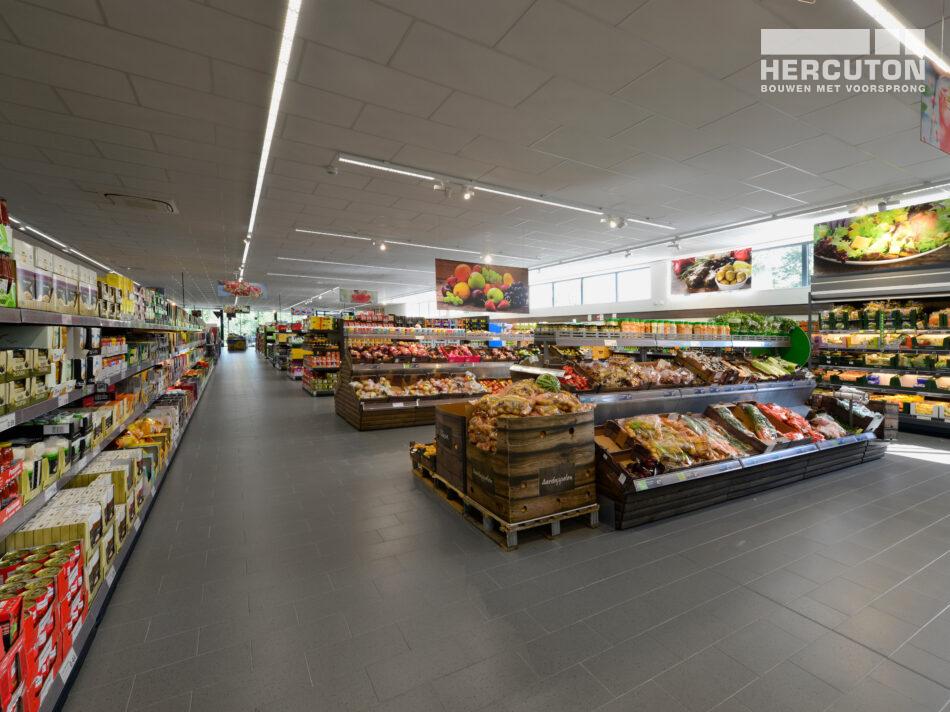 Nieuwbouw Aldi winkel Drachten gebouwd door Hercuton
