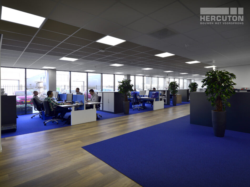 Kantoor binnenzijde nieuwbouw bedrijfspand Allied Motion