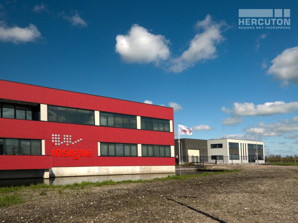 Nieuwbouw bedrijfsruimte met kantoor in loft architectuur door Hercuton b.v. uit. Nieuwkuijk