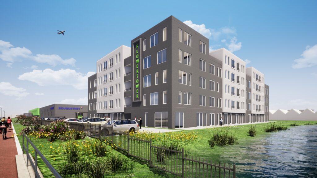 Nieuwbouw appartementencomplex Flower Tower in Aalsmeer