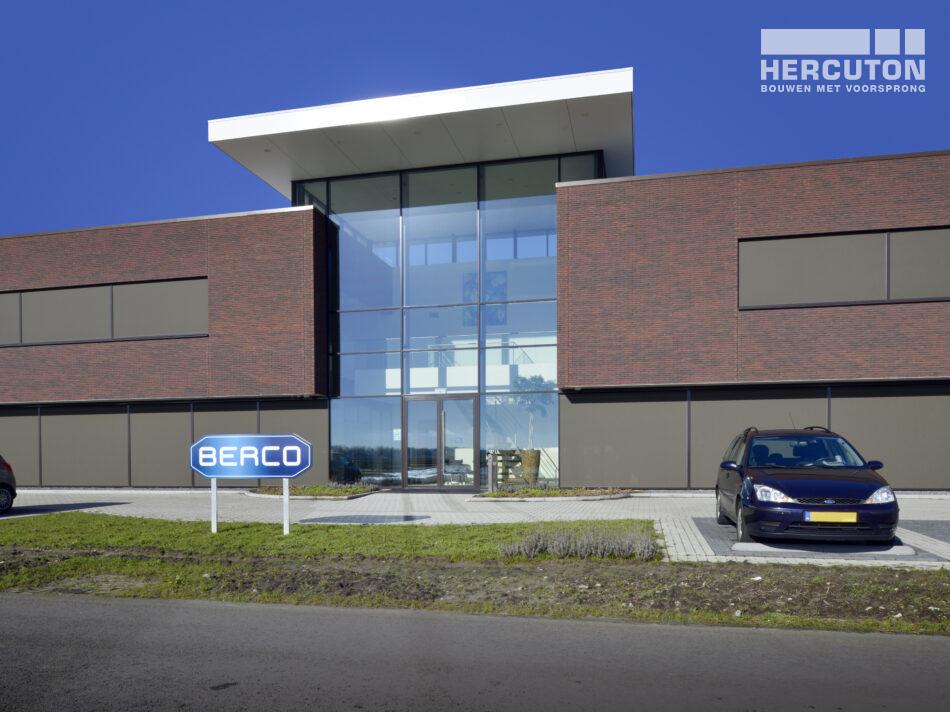 Nieuwbouw bedrijfsruimte met kantoor Berco