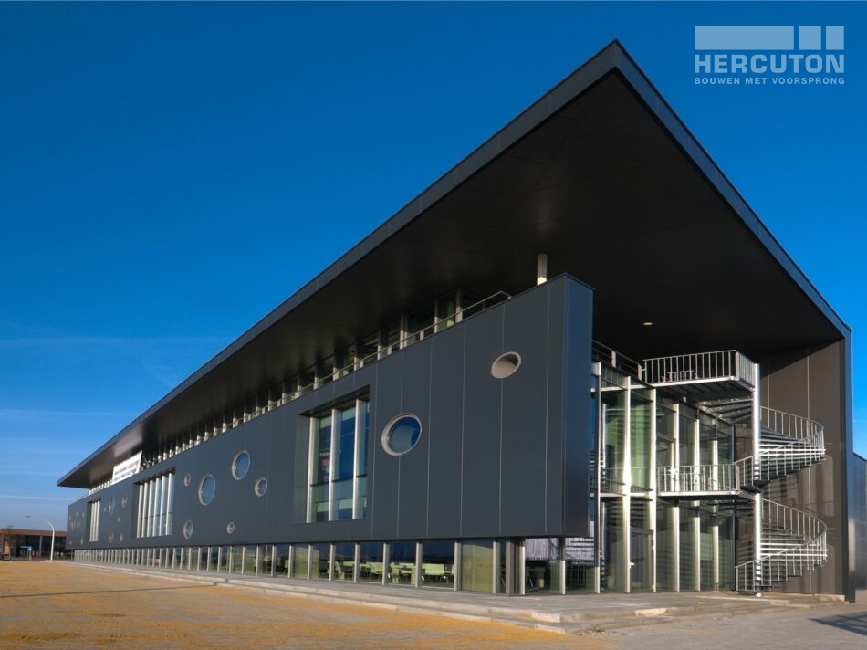 Hercuton realiseerde het kantoor met bedrijfsruimte voor Boost in Nieuwkuijk. - hybride