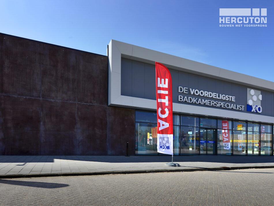 Nieuwbouw badkamerwinkel De Strip Duiven door Hercuton