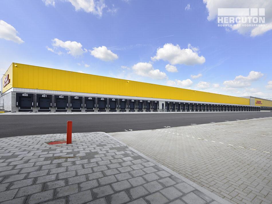 DHL all-electric sorteercentrum gerealiseerd door bouwbedrijf Hercuton uit Nieuwkuijk