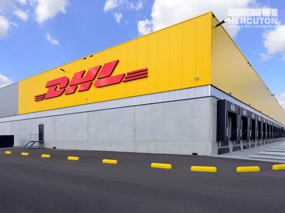 DHL all-electric sorteercentrum in Zaltbommel gebouwd door bouwbedrijf Hercuton uit Nieuwkuijk
