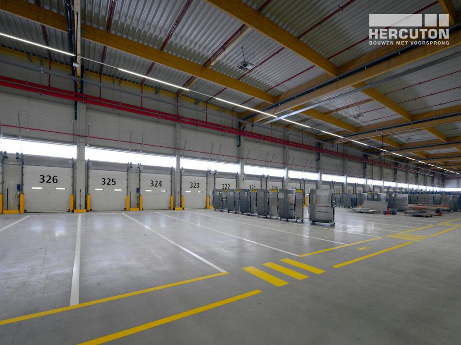 Hercuton bouw DHL parcel hub in Zaltbommel, grootste e-commerce sorteercentrum van Nederland