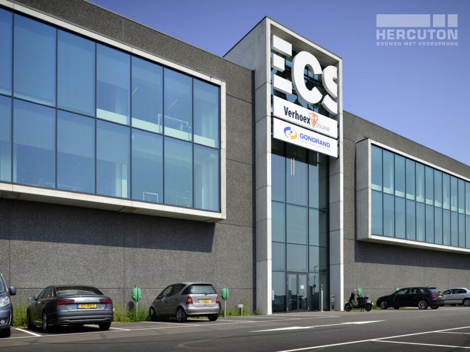 Turn-key nieuwbouw bedrijfspand ECS Venlo - Voorgevel