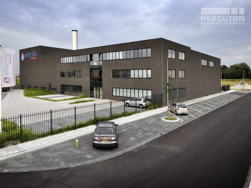Nieuwbouw bedrijfspand met kantoor en laboratoria Efectis