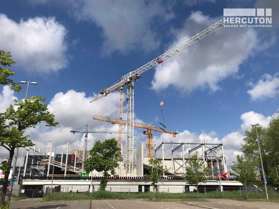Nieuwbouw Euroscoop Cinema- & Leisurecomplex Amsterdam-Noord gerealiseerd door Hercuton