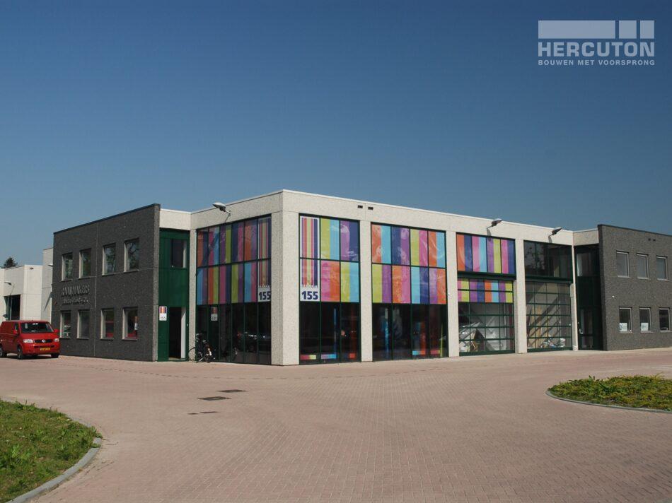 Hercuton heeft in Oosterhout maar liefst vier bedrijfsverzamelgebouwen met een totaaloppervlak van 11.878 m2 gerealiseerd op bedrijventerrein Everdenberg.