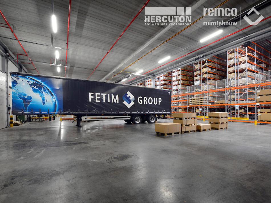 Bouwcombinatie Hercuton / Remco Ruimtebouw realiseerde turn-key een distributiecentrum van maar liefst 60.000 m2 voor Fetim Group. - DC