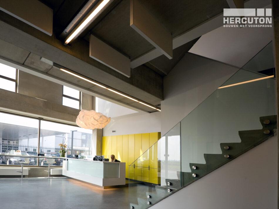 Met een oppervlakte van maar liefst 4.293 m2 heeft Hercuton een prachtig kantoorpand kunnen neerzetten.