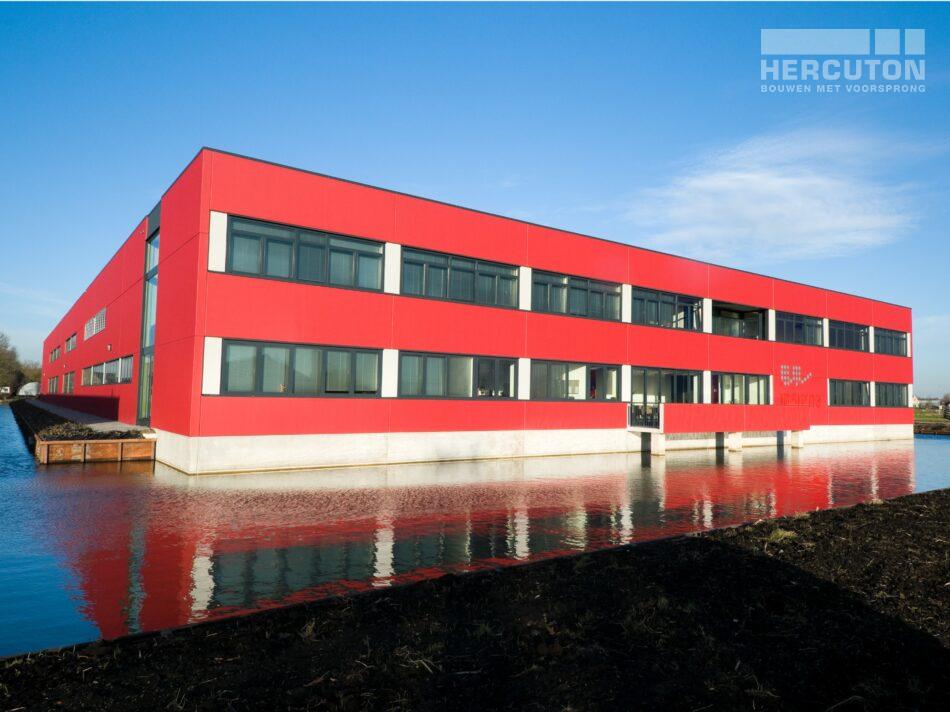Hercuton heeft voor Insigne in Molenaarsgraaf een prachtige bedrijfsruimte met kantoor gerealiseerd. - voorgevel