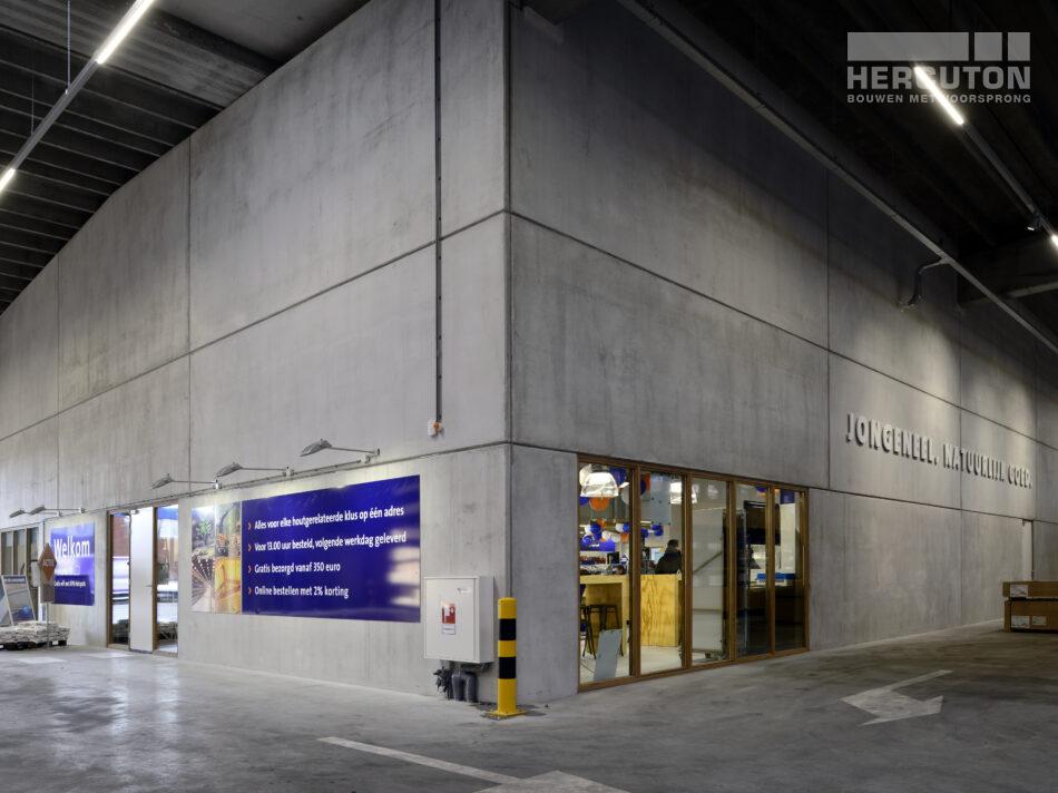 Nieuwbouw winkelruimte Houthandel Jongeneel Hercuton b.v. uit Nieuwkuijk