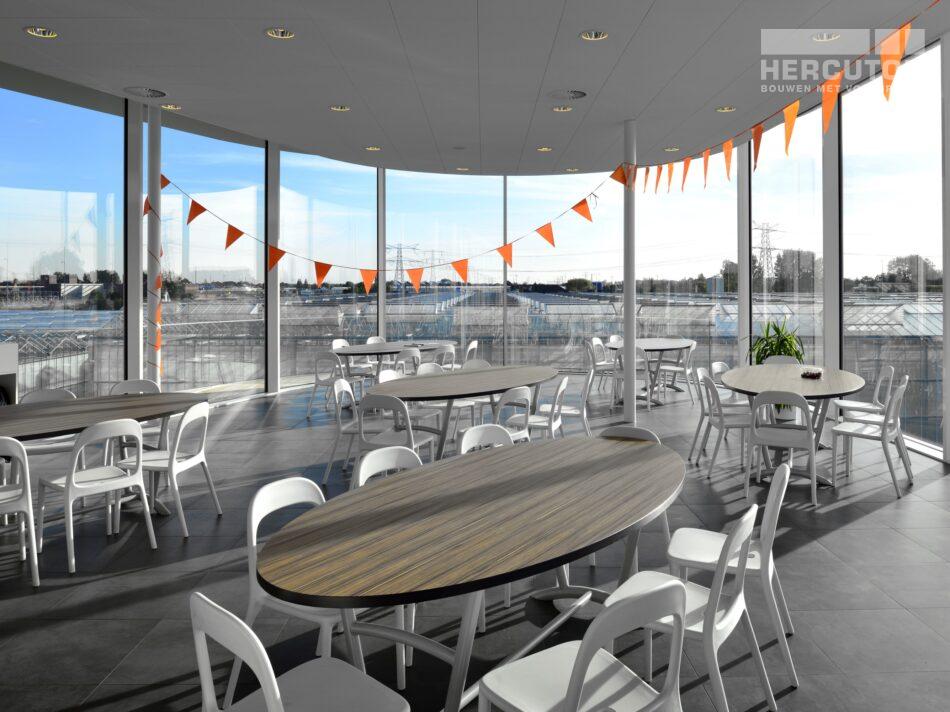 Hercuton heeft in Naaldwijk een kantoor met verpakkingscentrum gerealiseerd voor Looije Tomaten. - kantine