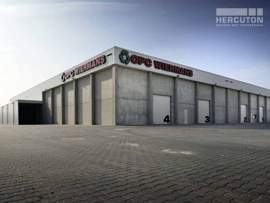 Nieuwbouw op- en overslagruimte OPC Wiermans