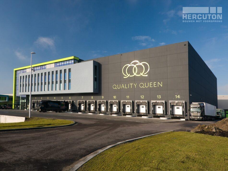 Hercuton realiseerde voor Quality Queen in Maasdijk een bedrijfspand ten behoeve van de verwerking, opslag en distributie van groente en fruit.