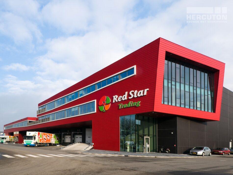 Het verpakkings- en distributiecentrum Red Star Trading is verdeeld over twee lagen - totaalbeeld