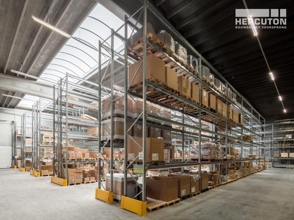 Nieuwbouw productie- en opslagruimte met kantoor Elvedes Cable Systems, Nieuwkuijk gebouwd door Hercuton b.v.