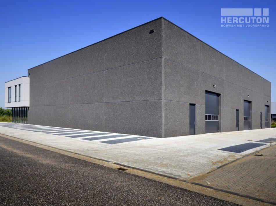 Nieuwbouw bedrijfsverzamelgebouw Kavel 41 Waalwijk - achtergevel