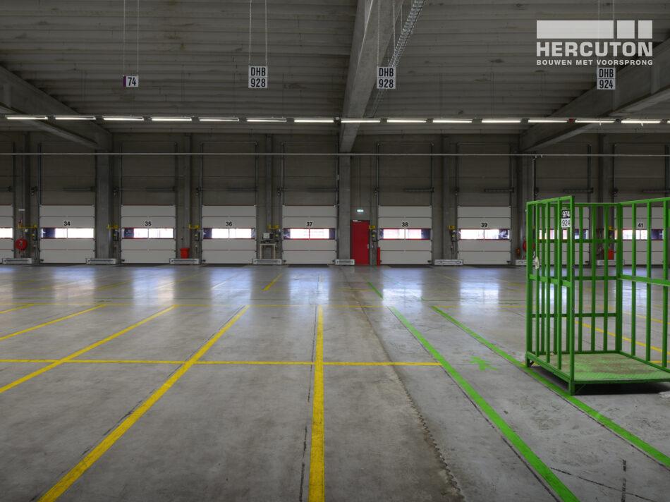 Nieuw logistiek centrum voor Tielbeke Logistiek in Lemelerveld gebouwd door Hercuton