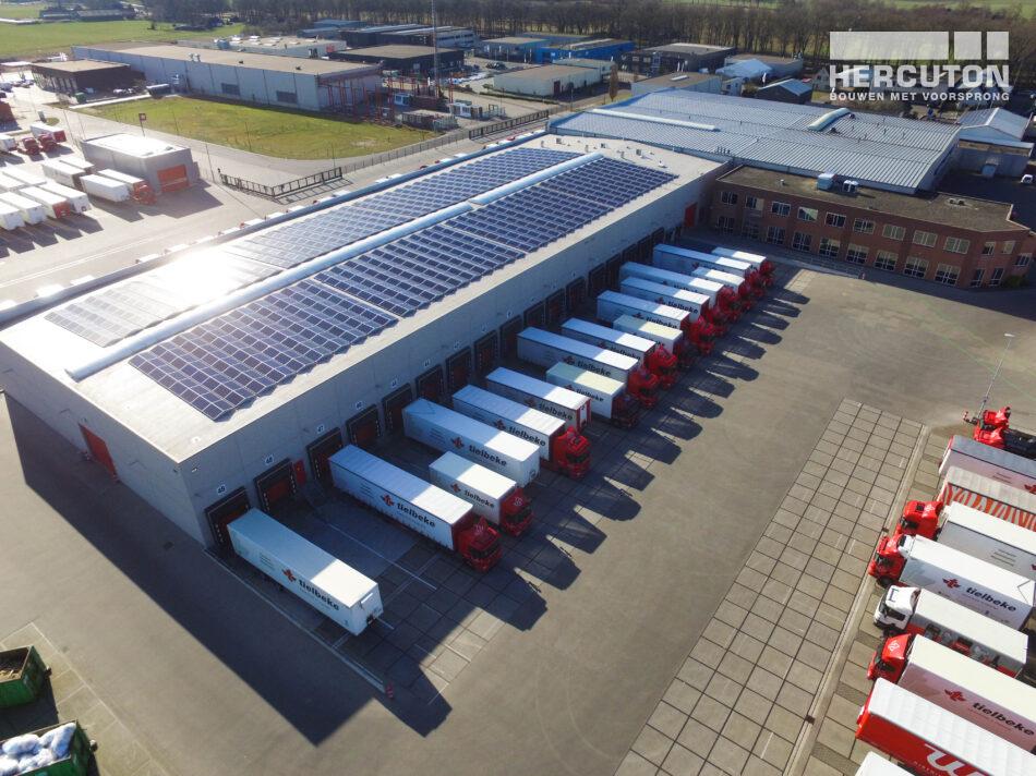 Nieuw logistiek centrum voor Tielbeke Logistiek in Lemelerveld gerealiseerd door Hercuton uit Nieuwkuijk