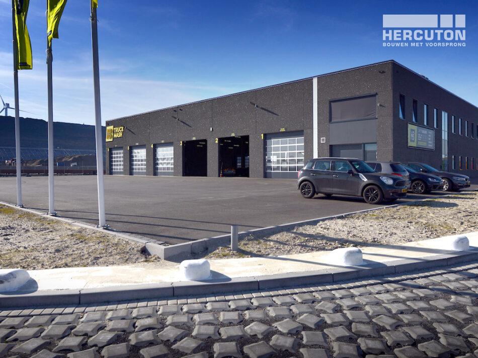 Nieuwbouw HB Truckwash Maasvlakte Rotterdam door Hercuton