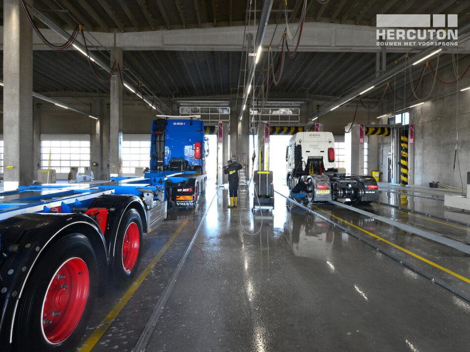 Hercuton realiseerde grootste truckwash van Europa op de Maasvlakte
