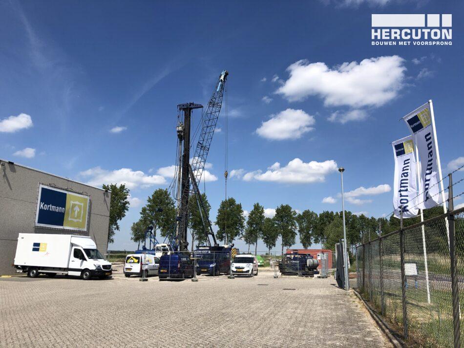 Nieuwbouw van de kunstopslag voor Kortmann Hoofddorp door Hercuton