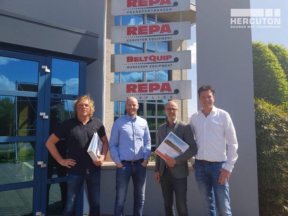 Contract getekend voor de nieuwbouw van REPA Transportbanden Alkmaar
