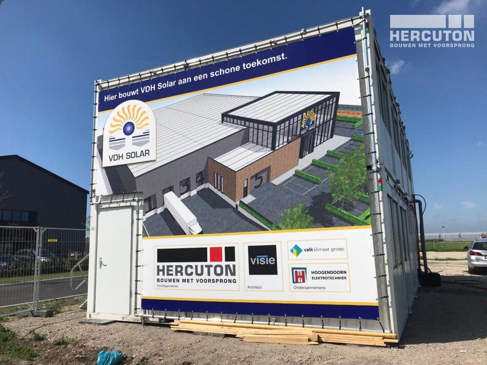 Nieuwbouw bedrijfsruimte met kantoor VDH Solar Hazerswoude-Dorp door Hercuton