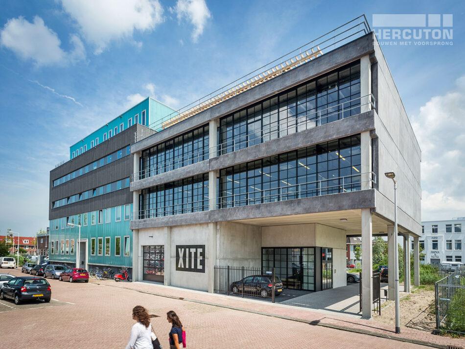 Nieuwbouw hoofdkantoor Xite Amsterdam - voorgevel