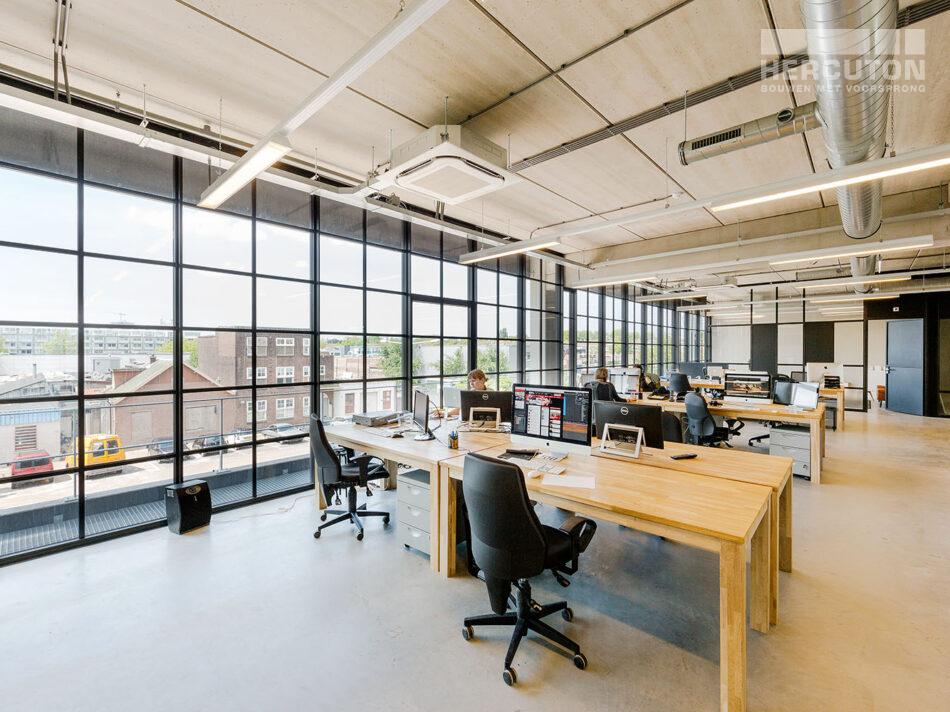 Nieuwbouw hoofdkantoor Xite Amsterdam - loft kantoor