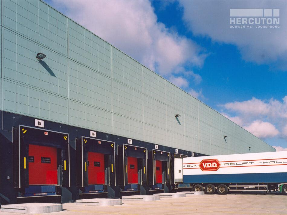 Hercuton realiseerde in Bleiswijk voor The Greenery een geconditioneerd distributiecentrum voor groente en fruit.