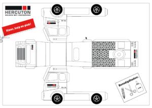 Bouwplaat vrachtwagen Hercuton