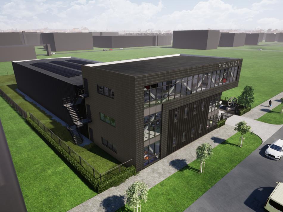 Nieuwbouw bedrijfspand met kantoor Piguillet & Zonen